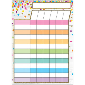 "Ashley Smart Poly® Single Sided Postermat Pals® Incentive Chart Confetti Style, 13"" X 9.5"" (95311)"