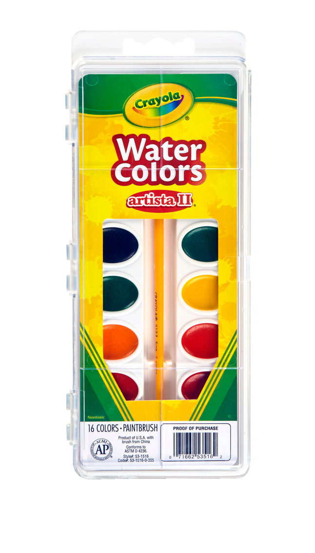 Crayola Watercolors Artista II, Paint set, 16 Colors