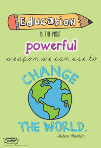 Teacher's Discovery Education is the Most Powerful Weapon Mini-Poster