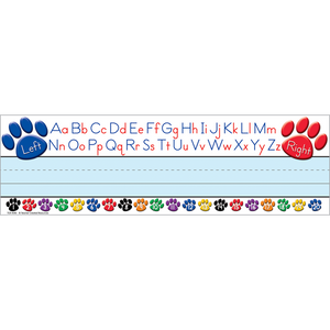 Teacher Created Paw Prints Left/Right Alphabet Desk Name Plates 36/Pack (TCR4040)