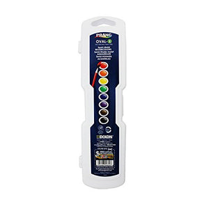 Prang Oval Watercolor Paints, 8 Count, Assorted Primary Colors (DIX00800)