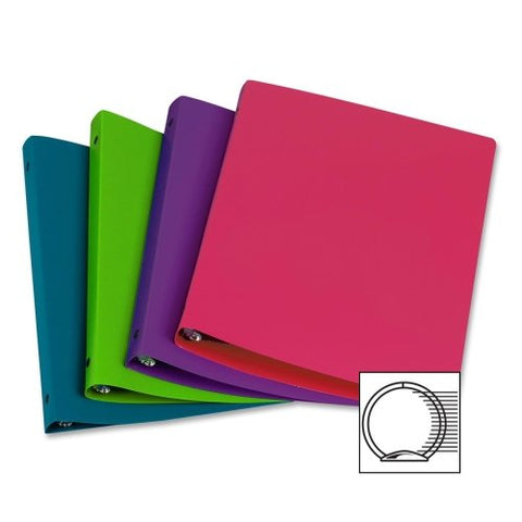 "Samsill Poly Fashion Color 1""  Binder, Assorted Colors"