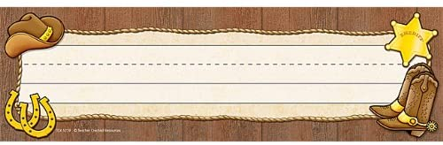 Teacher Created Western Desk Name Plates, 36/pack (TCR 5139)