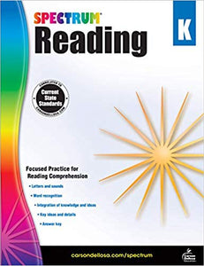 Spectrum Reading Workbook, Kindergarten (704578)
