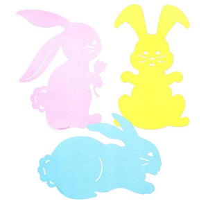 "Beistle Large Bunny 15.5"" Silhouette Cutouts, Pack of 3 Double-Sided (44121)"