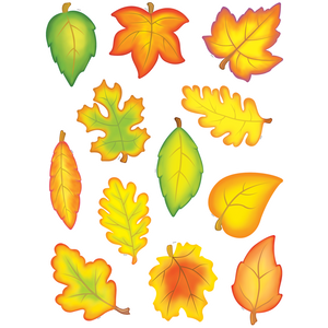 Teacher Created Fall Leaves Accents Cut Outs 30 pcs (TCR 4419)