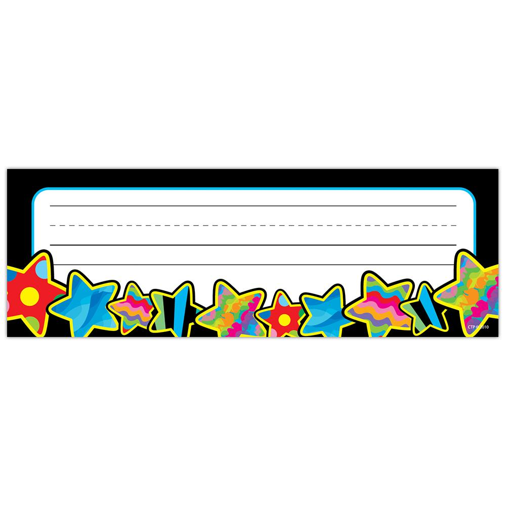 CTP Poppin' Patterns Stars Desk Name Plates 36/Pack (4520)