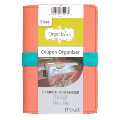 "Mead Organizher Coupon Organizer, Fabric Cover 7 1/4"" x 5 1/8"" (35493)"