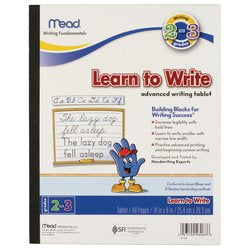 Mead® Learn to Write Tablet, 40 ct, Grades 2-3 (48068) Side Binding