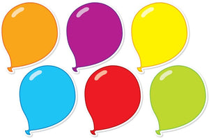 "Scholastic 6"" Balloon Accents Asstd Colors, 36 Pack (553134)"