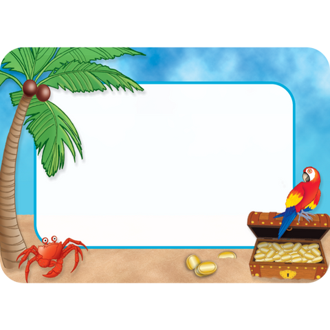 Teacher Created Island Paradise Name Tags Labels, 36 Count (TCR 5178)