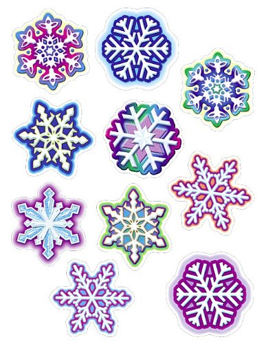 Teacher Created Snowflakes Assorted Accents Cut Outs, 30 Pcs (TC 5243)