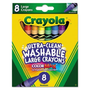 Crayola® Crayons Ultra Clean Washable Large 8 Count Box