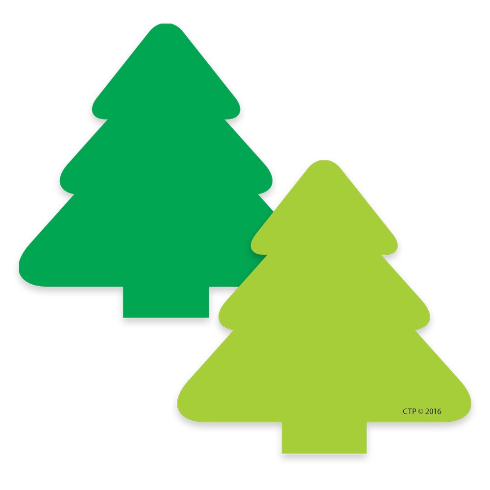 "Creative Teaching 2-Color Green Christmas Tree 3"" Cut Outs 31 Pcs (CTP 4903)"