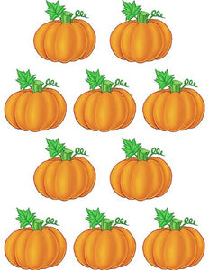 "Teacher Created 6"" Pumpkins Accents Cut Outs, 30 Pack (TCR 4146)"