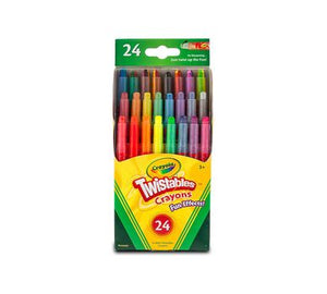 Crayola Fun Effects Mini Twistables Crayons, 24-Count, 1 pack