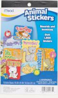 Mead Animal Stickers, 1,200+ Stickers (54171)