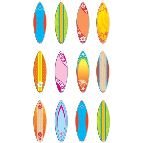 Teacher Created Surfboards Mini Accents, 36 Pack (TCR5537)