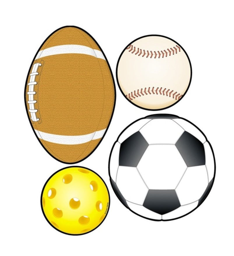 Carson Dellosa Sports Balls Bulletin Board Accents, 36 Pack (CD-5595)