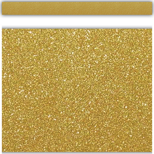 Tecaher Created Resources Gold Shimmer Straight Border Trim