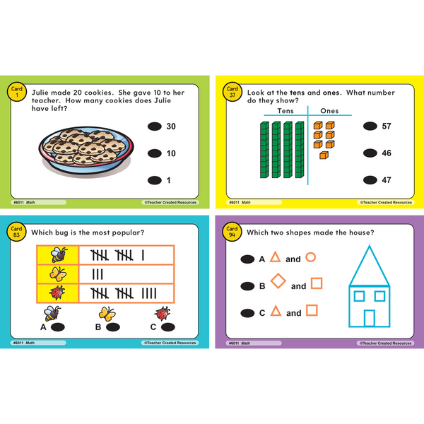 Teacher Created Power Pen Learning Cards GRADE 1 MATH (6011)