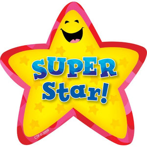 Creative Teaching Press Super Star Adhesive Badges, 36 Pack Stickers (CTP 1070)