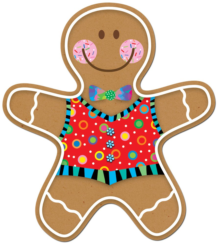 "Creative Teaching Gingerbread Man 6"" Designer Cut Outs 36 Pcs (CTP 5889)"