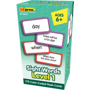 Edupress Sight Words Flash Cards - Level 1, 170 Cards (EP62031)