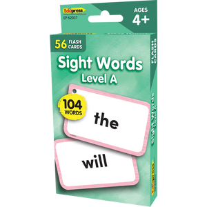 Edupress Sight Words Flash Cards - Level A, 56 Cards (EP62037)