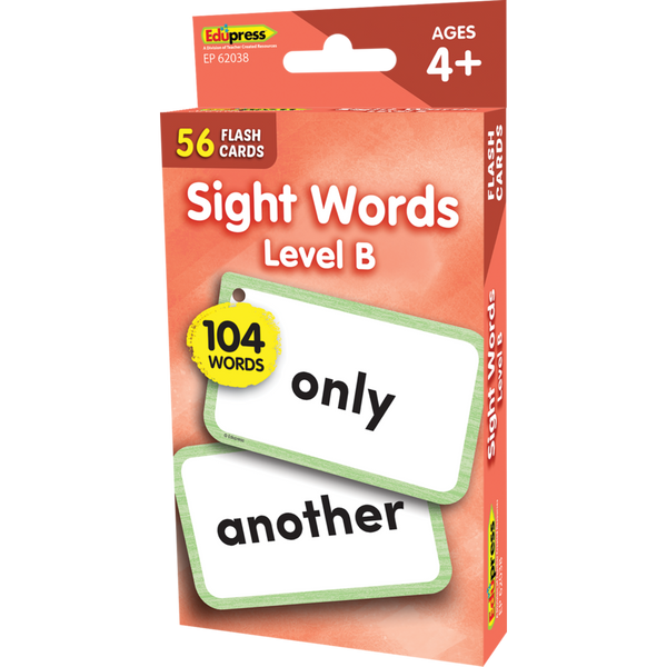 Edupress Sight Words Flash Cards - Level B, 56 Cards (EP62038)