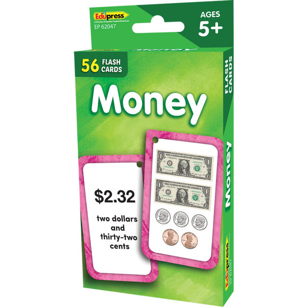 Edupress Money Flash Cards, 56 Cards (EP62047)