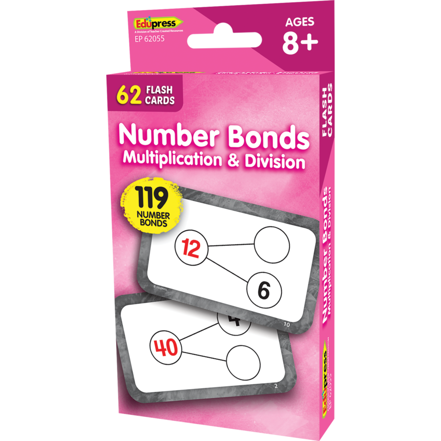 Edupress Number Bonds Flash Cards - Multiplication and Division, 62 Cards (EP62055)