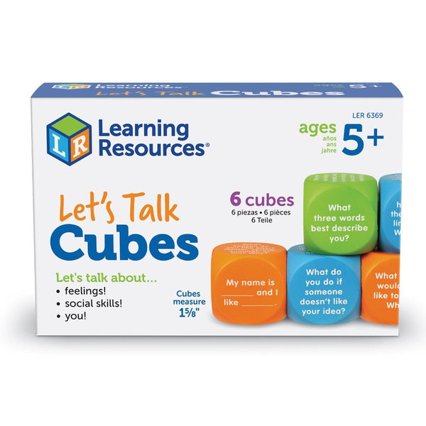 Learning Resources Let's Talk Cubes Conversation Starters (LER6369)