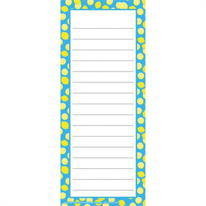 "Eureka Always Try Your Zest Lemon Note Pad, 3.5"" x 8.5"", 50 Sheets (643618)"