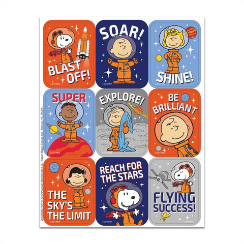 Eureka Peanuts® NASA Giant Stickers, Pack Of 36, Snoopy (650800)