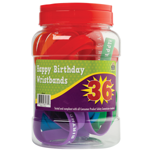 Teacher Created Happy Birthday Wristbands, 36 Piece (TCR-6577)