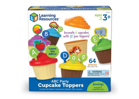 Learning Resources ABC Party Cupcake Toppers (LER6804)