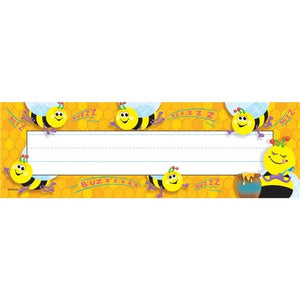 Trend Busy Bees Desk Name Plates, 32/pack Desk Toppers (T-69014)