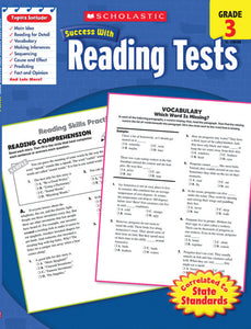 Scholastic Success with READING TESTS Activity Book Grades 3 (SC-520103)