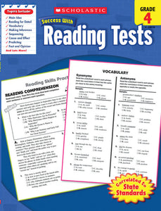 Scholastic Success with READING TESTS Activity Book Grades 4 (SC-520110)