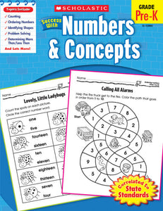 Scholastic Success with NUMBERS & CONCEPTS PreK Activity Book (SC-520085)