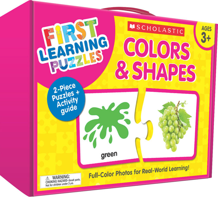 Scholastic First Learning Puzzles - COLORS & SHAPES (SC-863053)