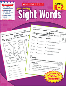 Scholastic Success with SIGHT WORDS Grades K-2 (SC-520112)