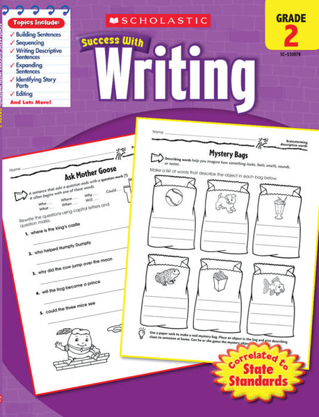 Scholastic Success with WRITING Activity Book Grades 2 (SC-520078)
