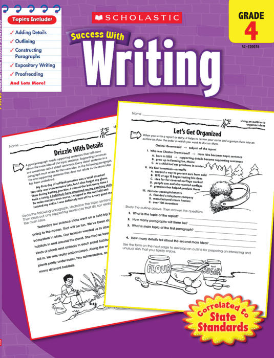 Scholastic Success with WRITING Activity Book Grades 4 (SC-520076)