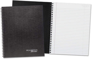 "Cambridge Limited Wirebound Planner Notebook, 11"" X 8 7/8"", Black Cover, 80 Sheets (0634301)"