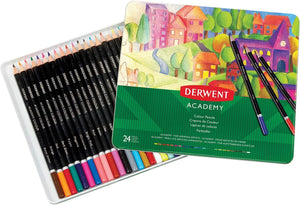 Derwent Academy Color Pencils, Pack of 24 (2301938)