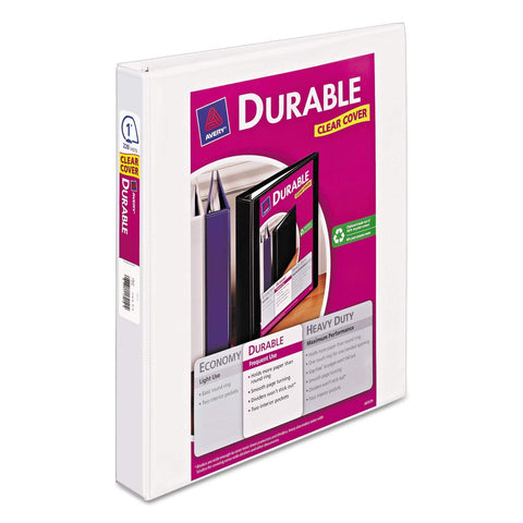 "Avery 1"" Durable View Binder, White (17012)"