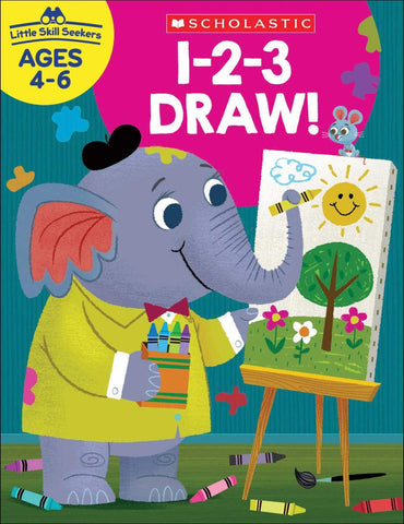Scholastic 1-2-3 Draw!, Little Skill Seekers Workbook Ages 4-6 (SC-830635)