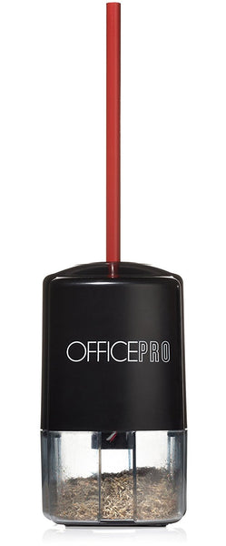 OfficePro Electric Pencil Sharpener (Battery Operated - Batteries Included)